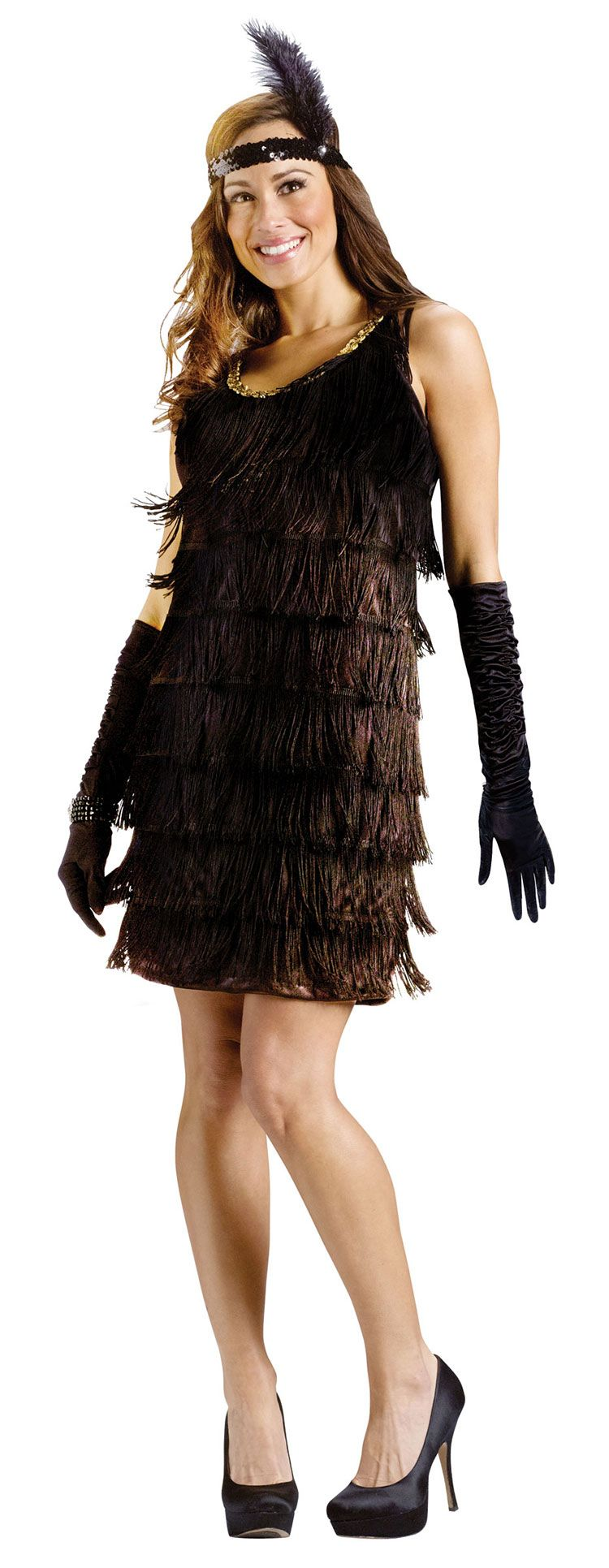 Black Fringed Flapper Costume - Flapper Costumes | 20s | Pinterest ...