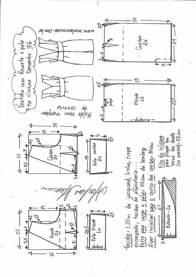 Vestido tubo con corte debajo del escote en forma V