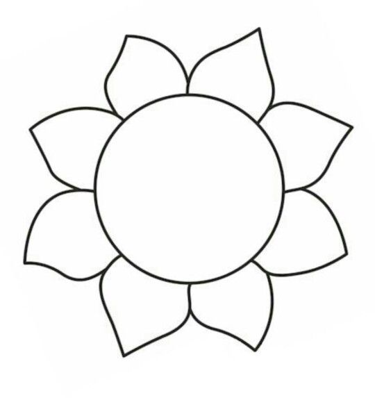 Sunflower | Handed quilting templates | Pinterest ...