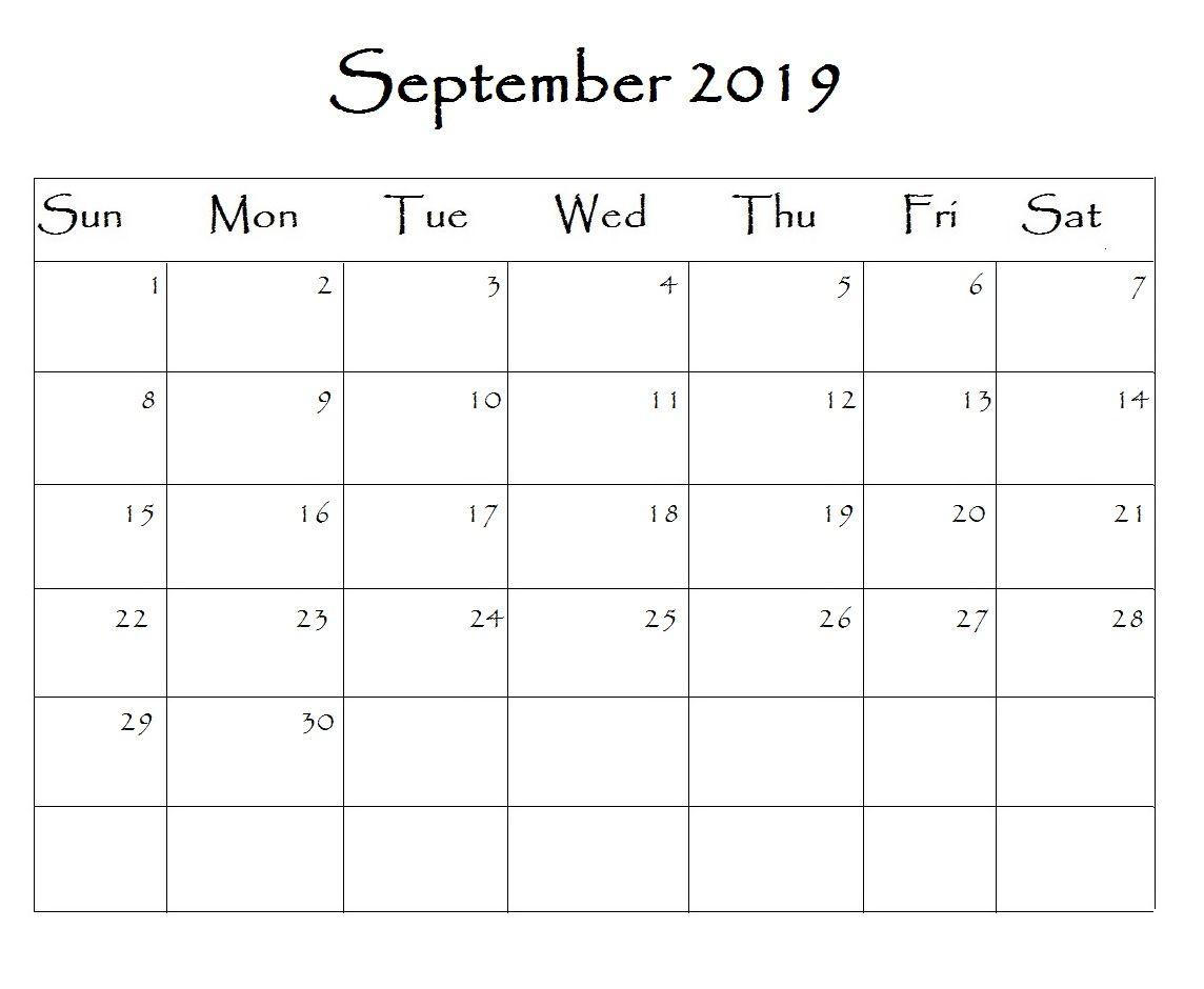September 2019 Calendar Word 2019 2019calendar Word December