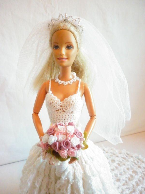 Boo Bear\'s Crochet Barbie Wedding Dress | My Barbie Crochet Projects ...