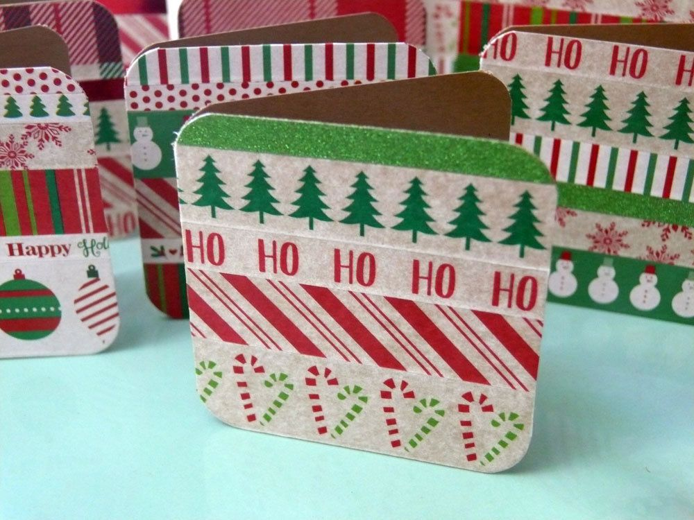 Christmas Enclosure Cards, Small Gift Cards, Little Christmas Cards ...