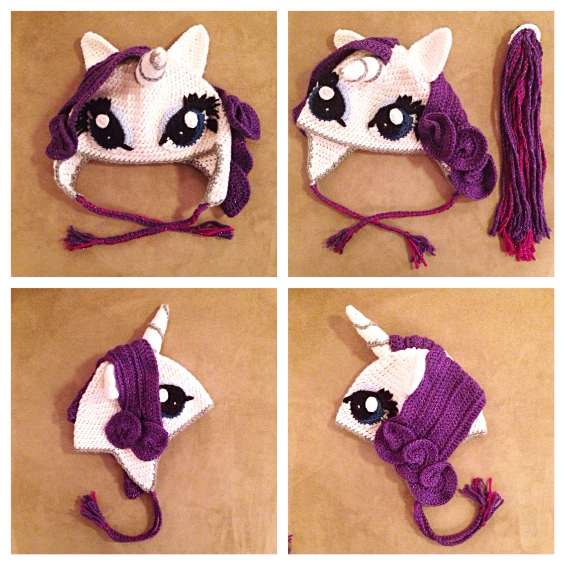 The finished product!!! My Little Pony Rarity Unicorn crochet ...