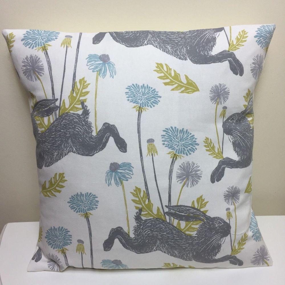 New handmade studio g march hare fabric cushion cover