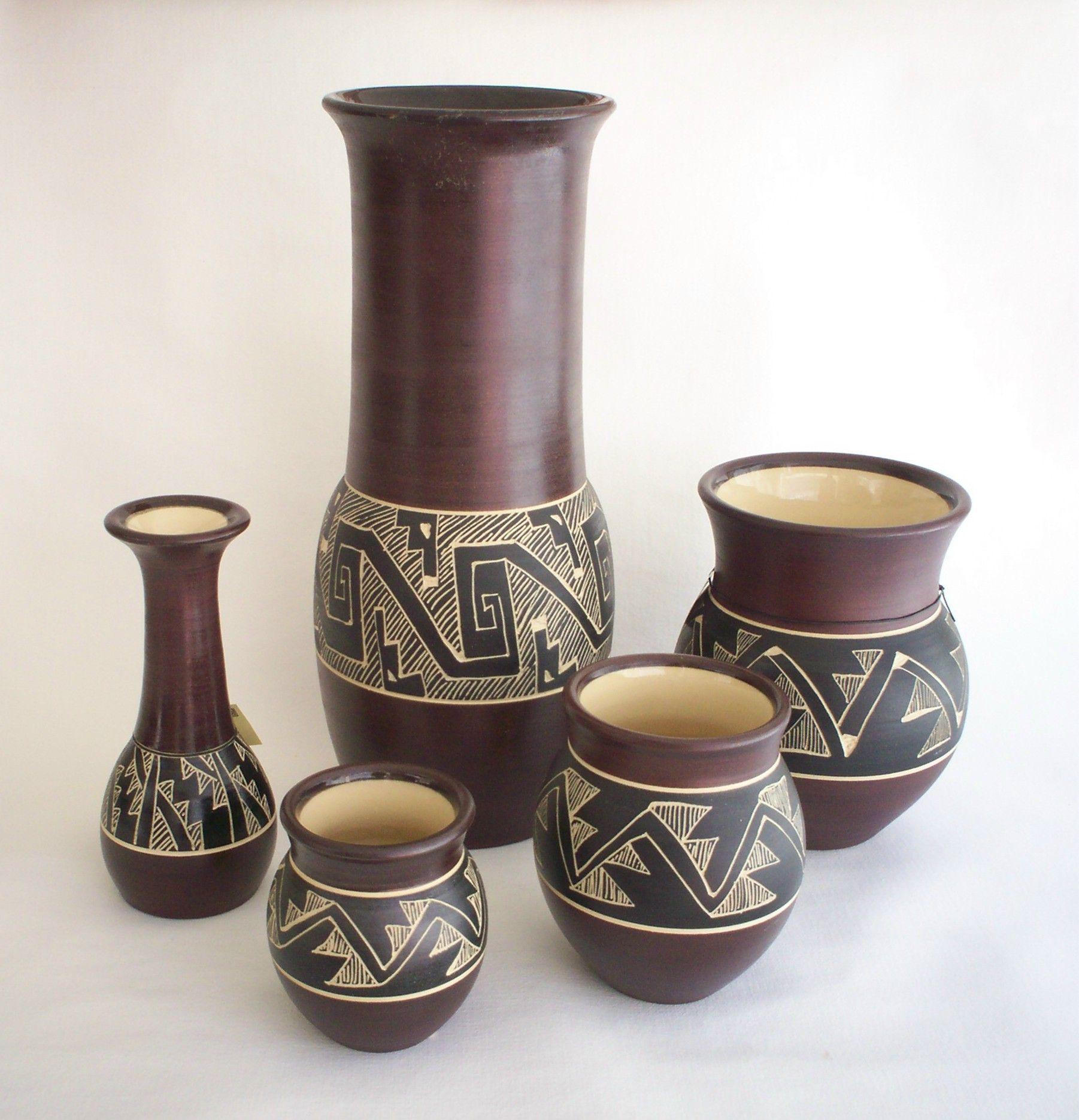 Alfareria Con Dise Os Precolombinos Pottery