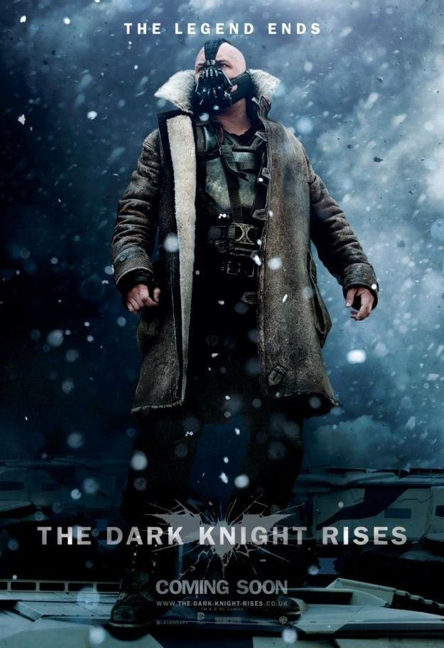 The Dark Knight Rises Tom Hardy Poster Pipoca Combacon