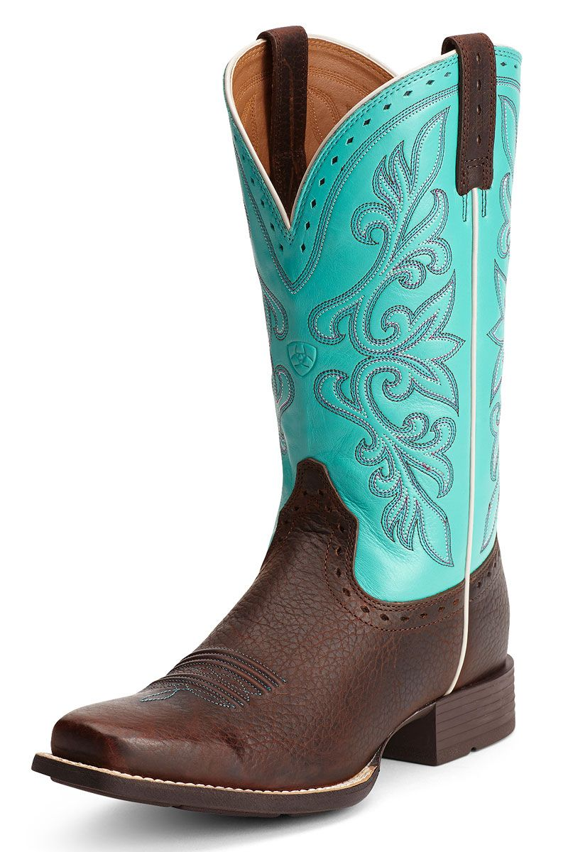 8568024f1c1 SALE & FREE SHIPPING! Ariat Women's Rundown Brown & Turquoise ...