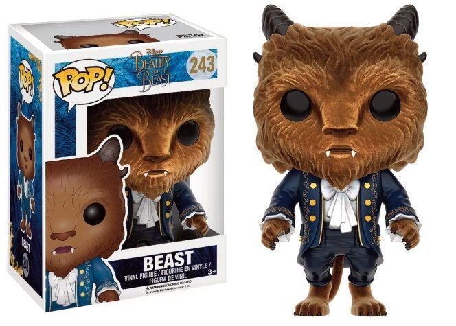 Personnage Flocked 9 cm Funko La belle et la bête Beast Pop