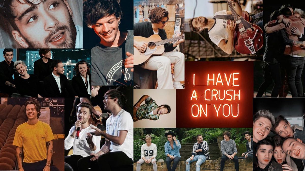 One Direction Desktop Wallpaper In 2020 One Direction Wallpaper One Direction Collage One Direction Pictures