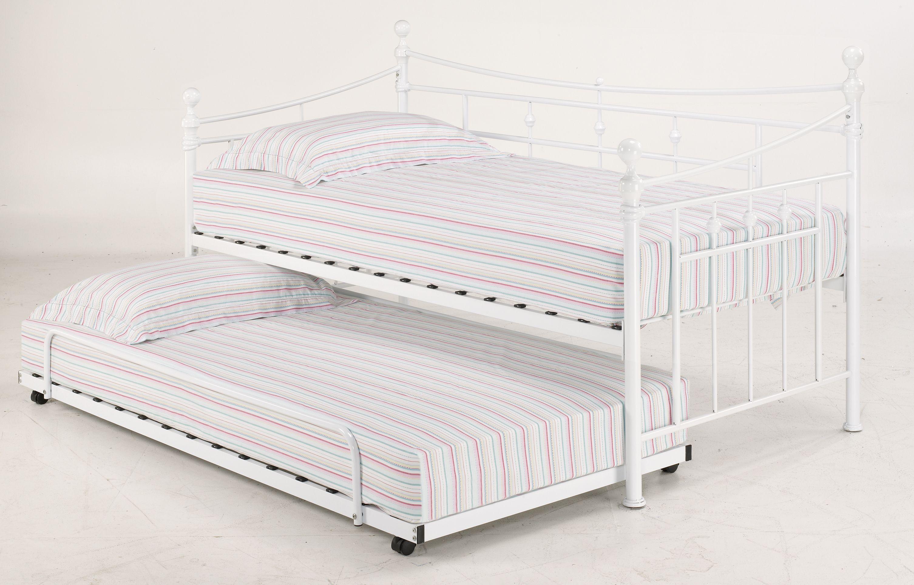 Olivia Single Beds In Black Or White Finish 2nd Single Bed Slides