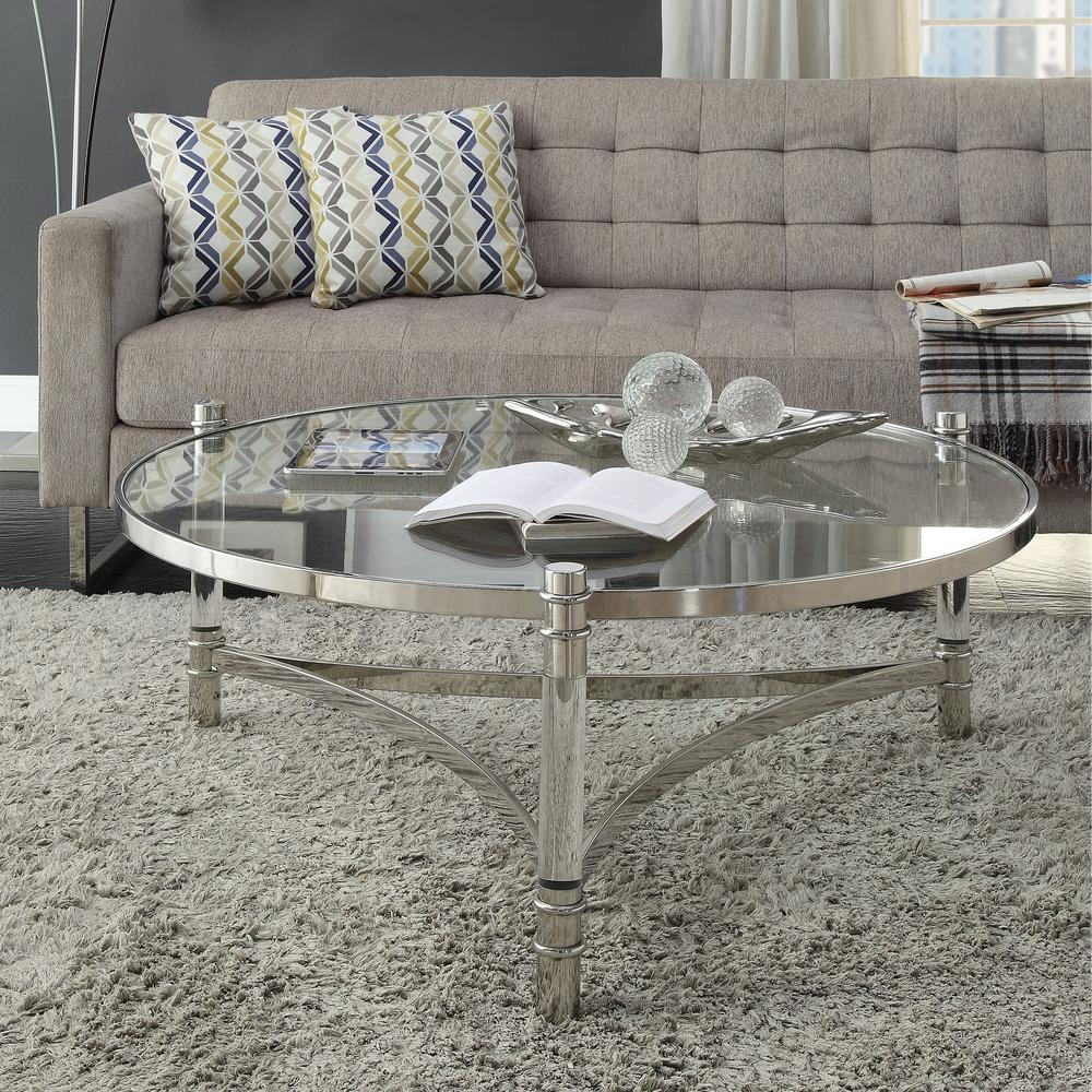 Venetian Worldwide Peony Silver Stainless Steel And Glass Coffee Table Va 80170 The Home Depot Coffee Table Living Room Coffee Table Sleek Coffee Table [ 1000 x 1000 Pixel ]
