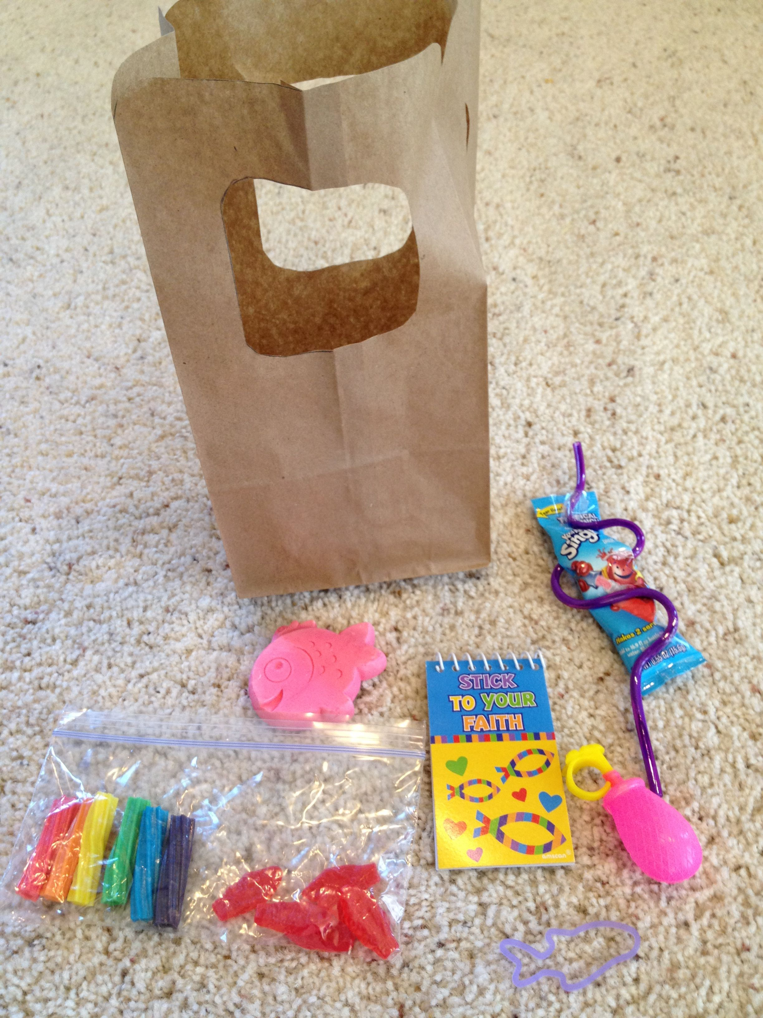 end of year goodie bags our theme was catch the wave bag is a
