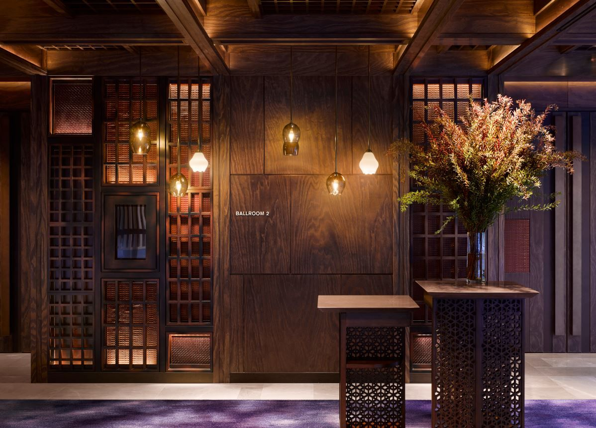 Pre function area at the four seasons kyoto by hba design for Design hotel kyoto