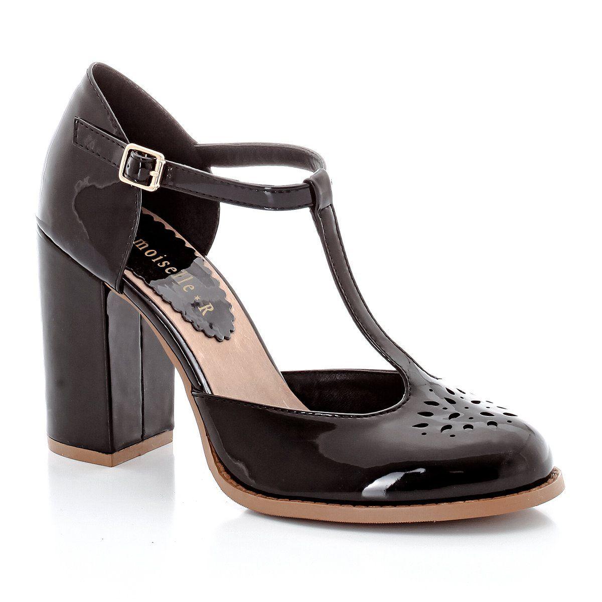Sapatos com tacão, perfurados Mademoiselle R | La Redoute