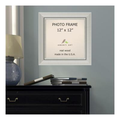 Amanti Art Romano 12 In X 12 In Silver Picture Frame Black Picture Frames Beige Picture Frames