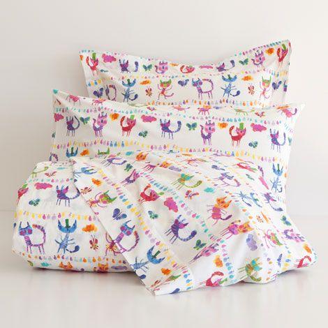 linge de lit imprim petits chats zara home france. Black Bedroom Furniture Sets. Home Design Ideas