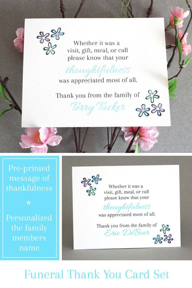 what to write in my bridal shower thank you cards%0A Personalized Funeral Thank You Cards  Making a terrible time a little  easier  Pre