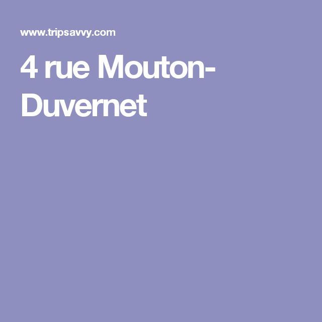 4 rue Mouton- Duvernet