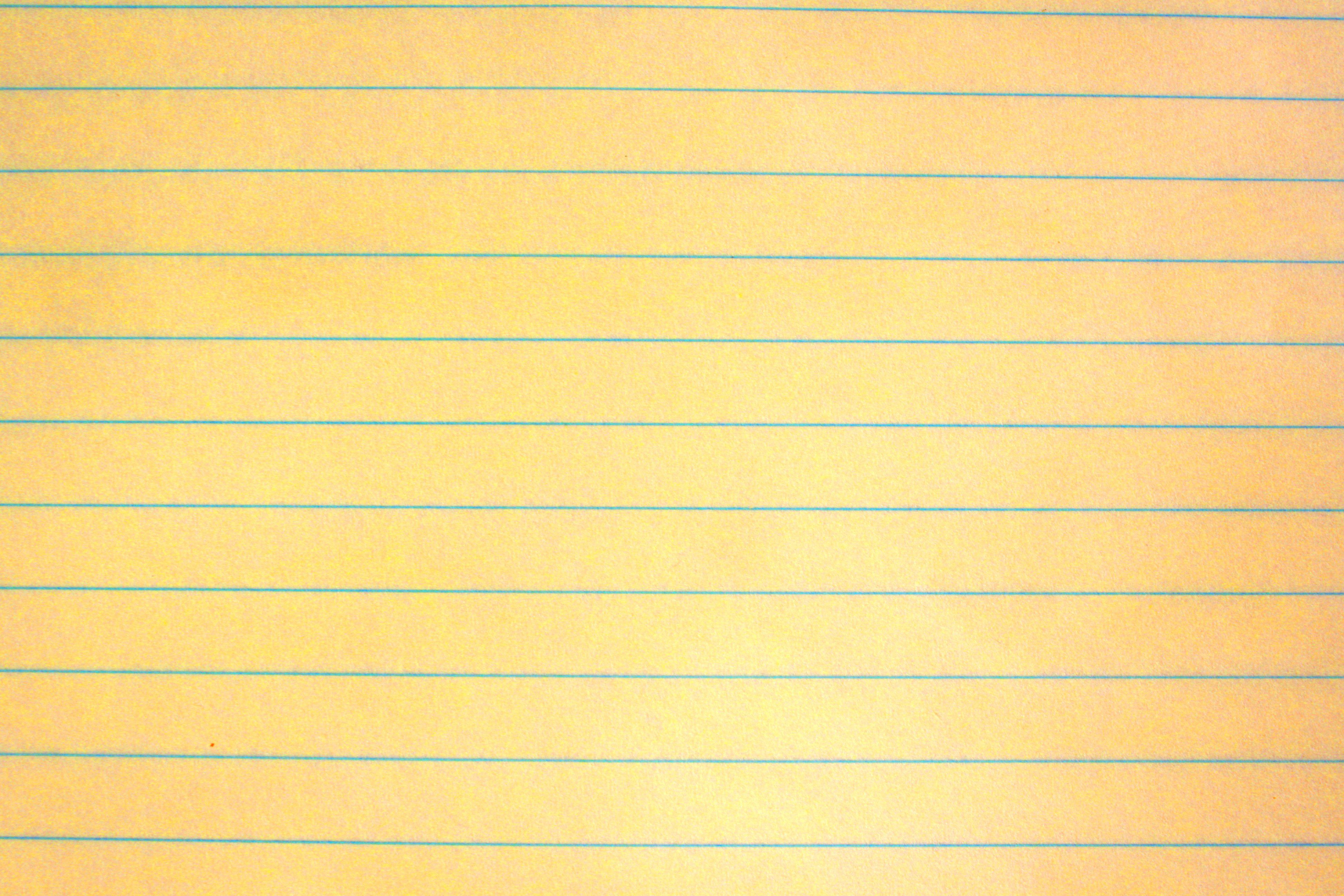 Yellow Notebook Paper Texture  Yellow    Free