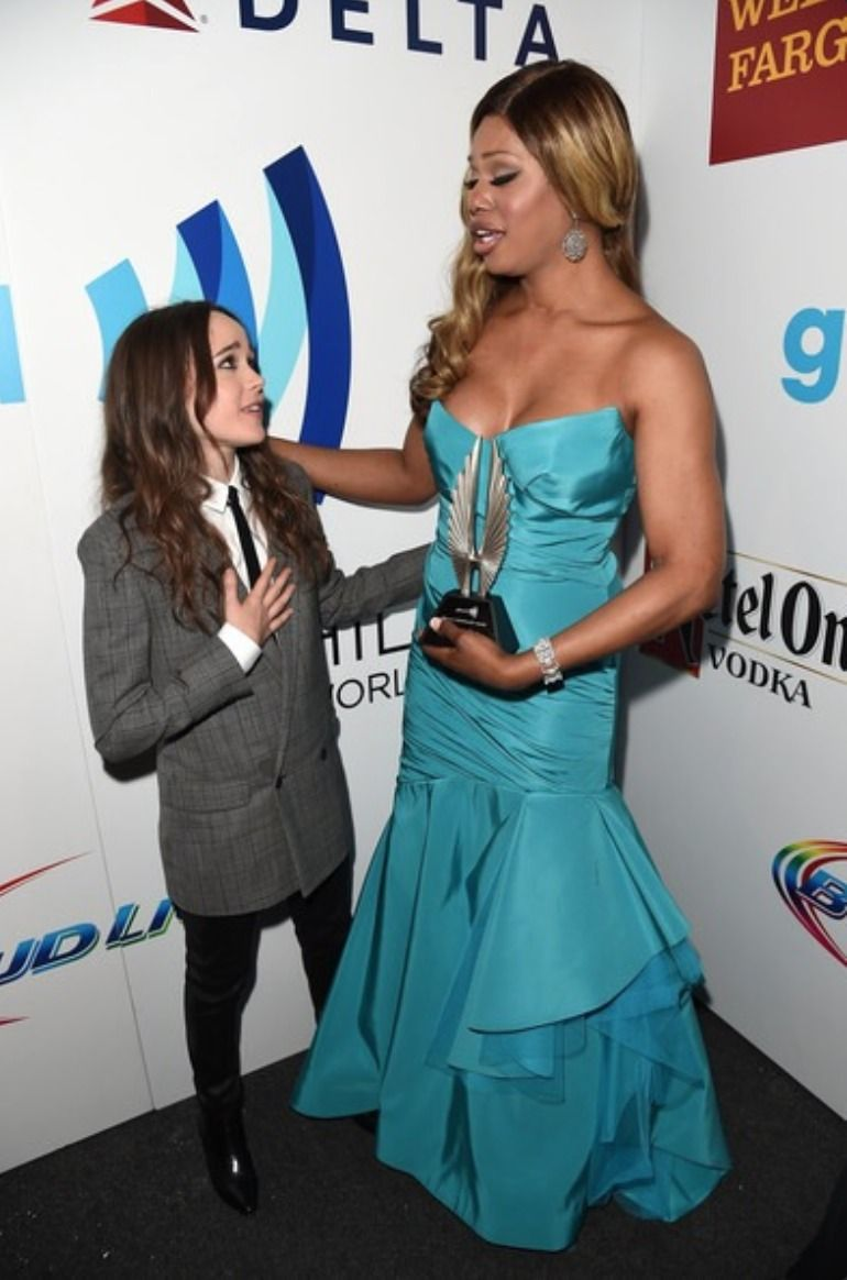 The Mary Sue : Photo - ellen page and laverne cox | Supernovary ...