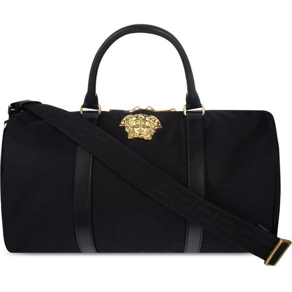 VERSACE Medusa nylon duffle (1,565 CAD) ❤ liked on Polyvore featuring men's fashion, men's bags and mens duffle bags