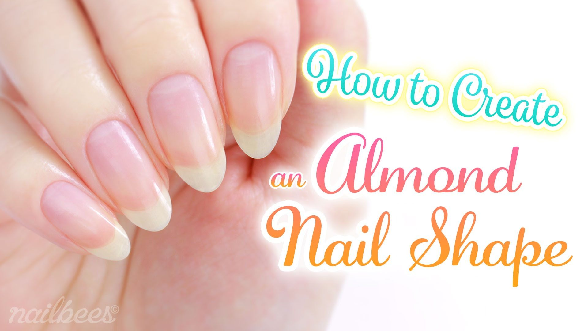 ♡ How to Create an Almond Nail Shape ♡ | Nails | Pinterest ...