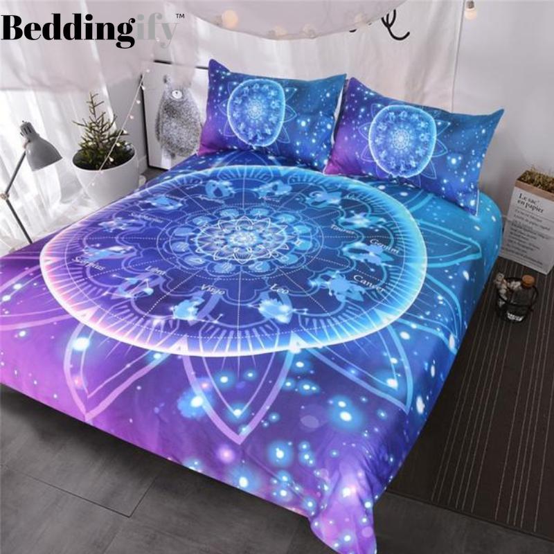 Galaxy Burgundy Mandala Bedding Set In 2021 Bedding Set Burgundy Bedding Bedding Sets