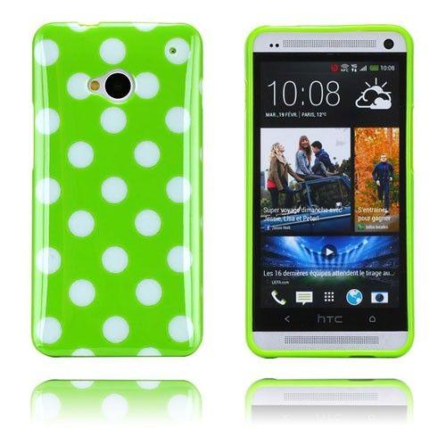 Polka Dots (Vihreä) HTC One Suojakuori
