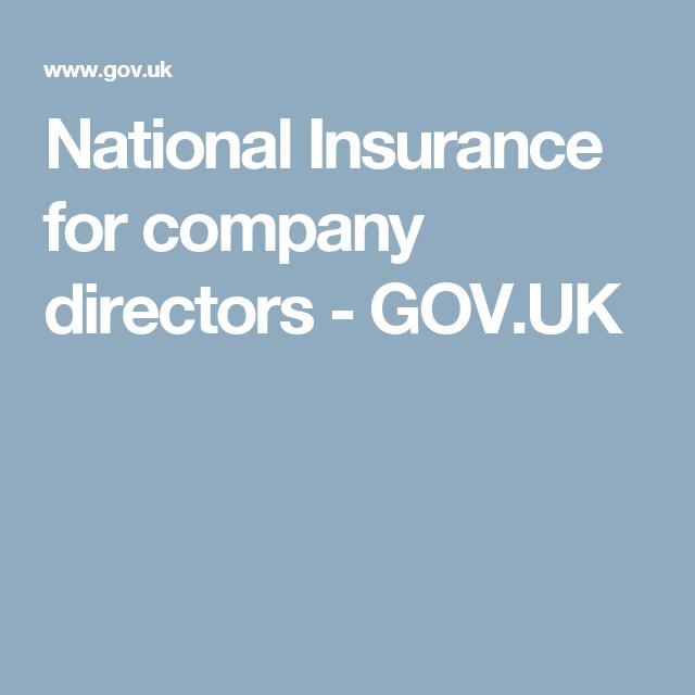 National Insurance For Company Directors Gov Uk National