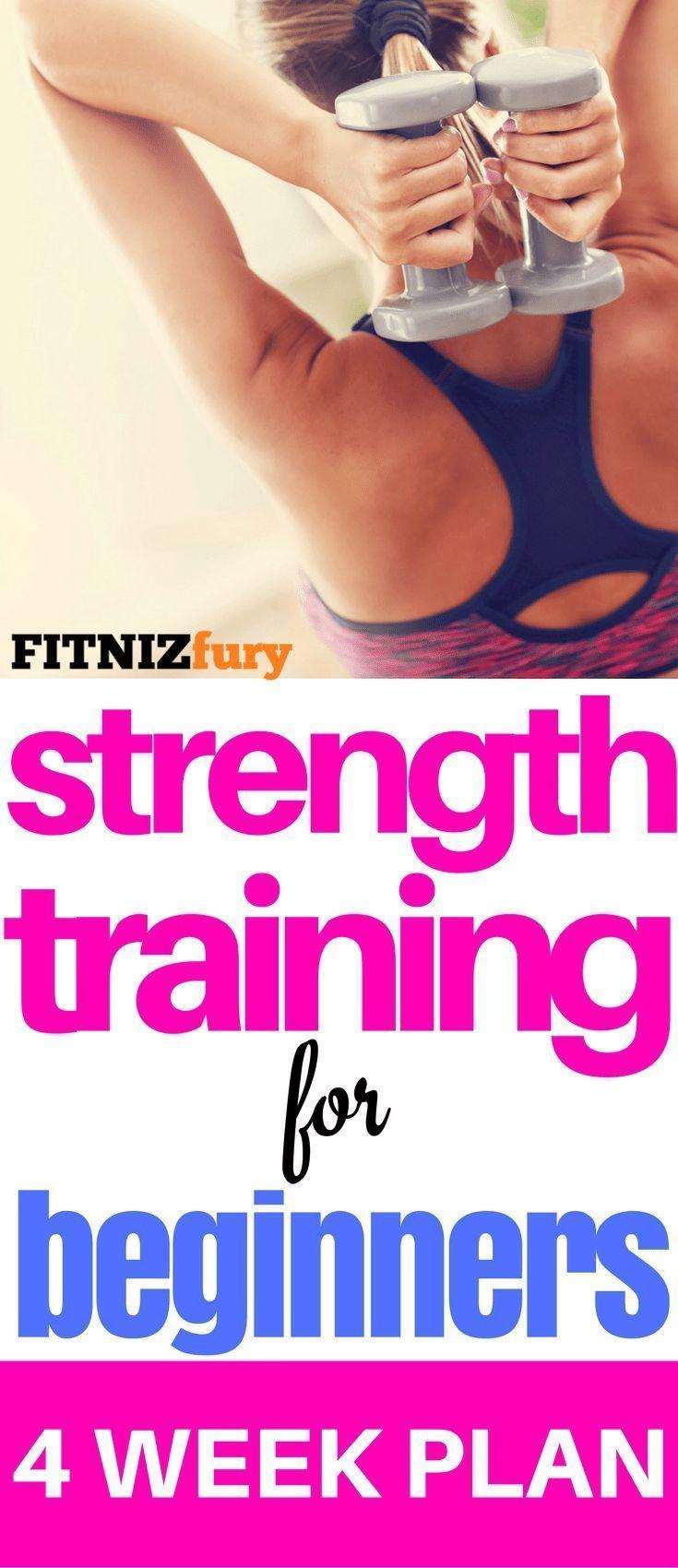 4 Wochen Krafttraining für Anfänger. Zuhause oder im Fitnessstudio  #weighttraining
