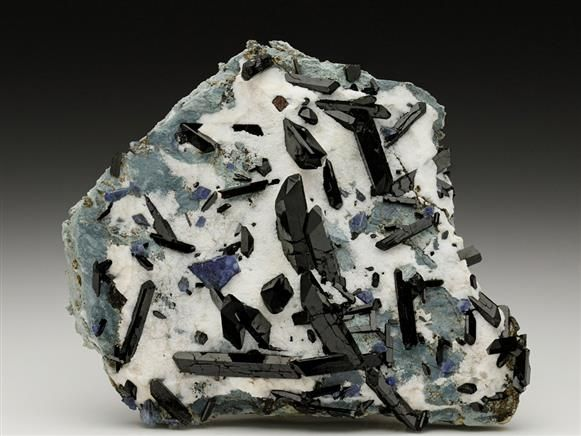 Neptunite with Benitoite From the California State Gem Mine (Dallas Gem Mine). Crystal Classics Minerals