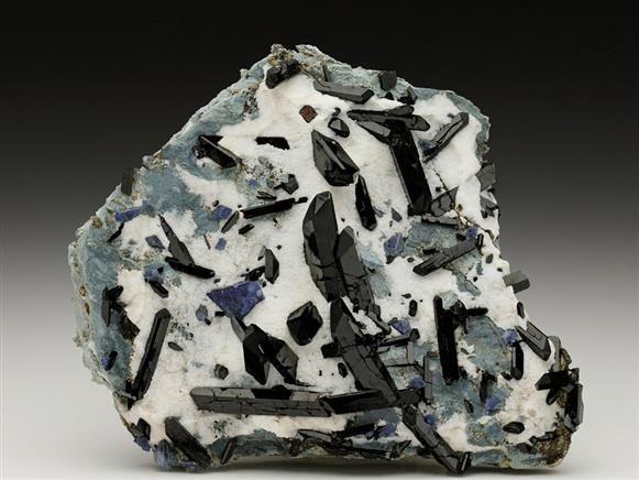 Neptunite with Benitoite From the California State Gem Mine (Dallas Gem Mine). Crystal Classics Minerals