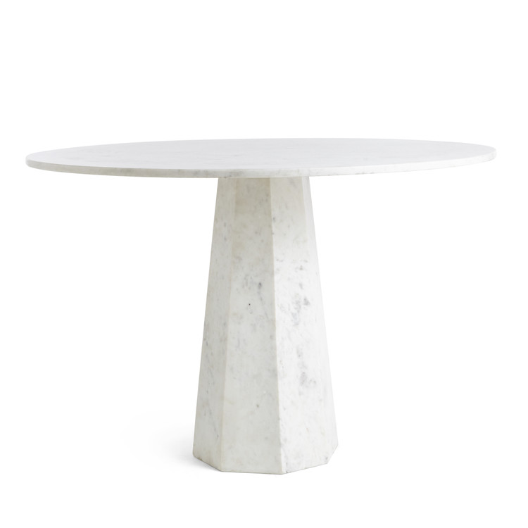 Faceted Marble Table Marble Pedestal Table Marble Table Marble