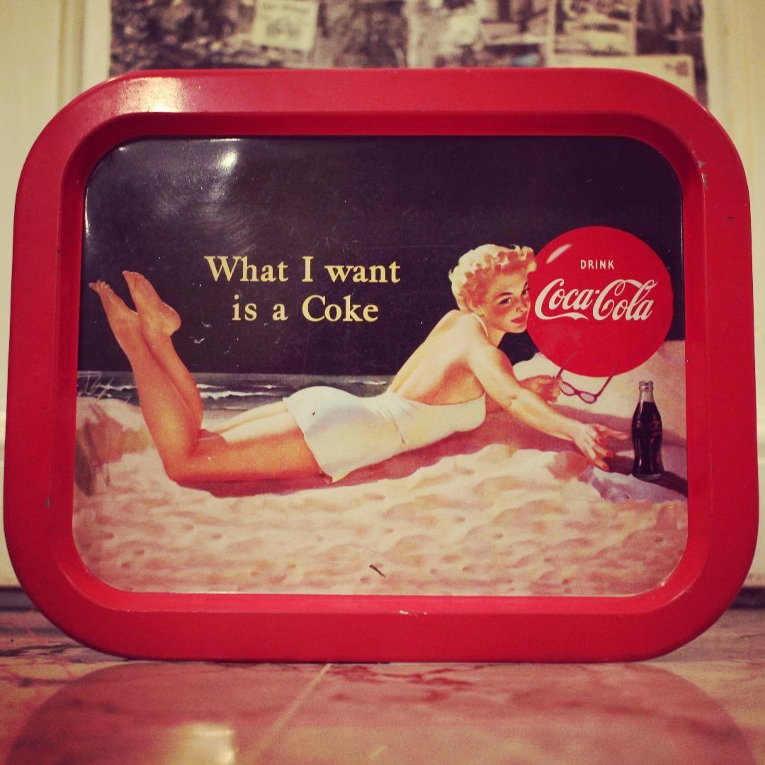 Vintage Coca Cola serving tray Piccolaketi