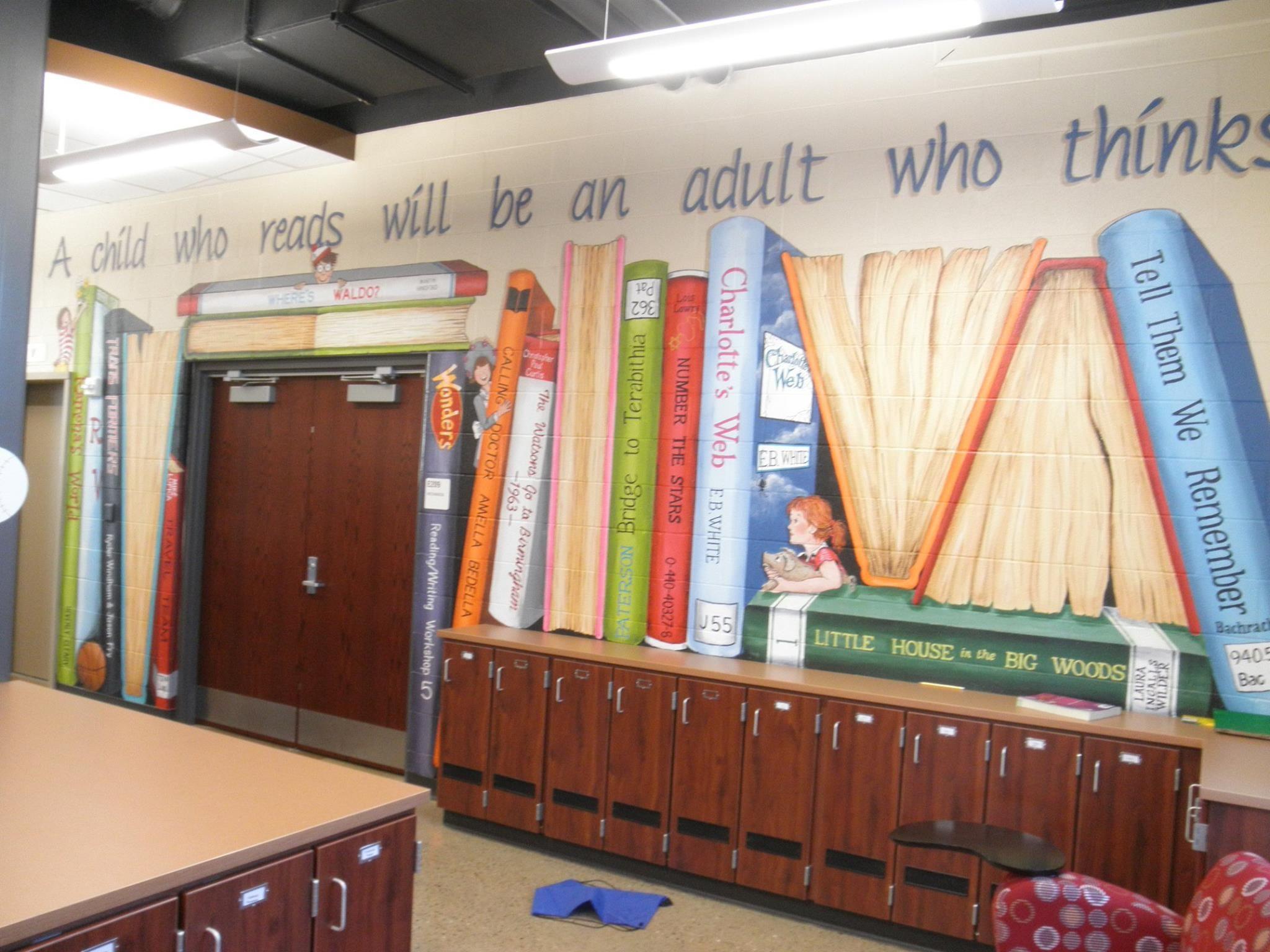 Elementary School Mural Libraries Yes It S True