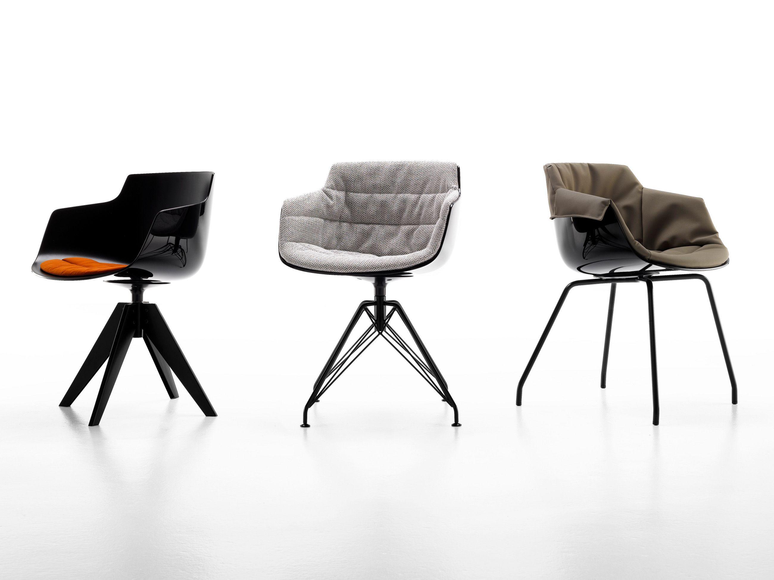 Petit fauteuil en polycarbonate avec accoudoirs FLOW SLIM ARMCHAIR ...