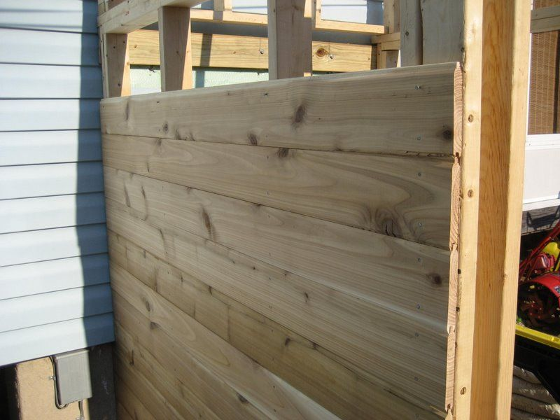 Gallery For > Cedar Tongue And Groove Fence | Backyard in