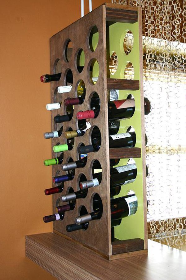Amazing diy wine storage ideas diy wine racks wine rack for Wine rack built in