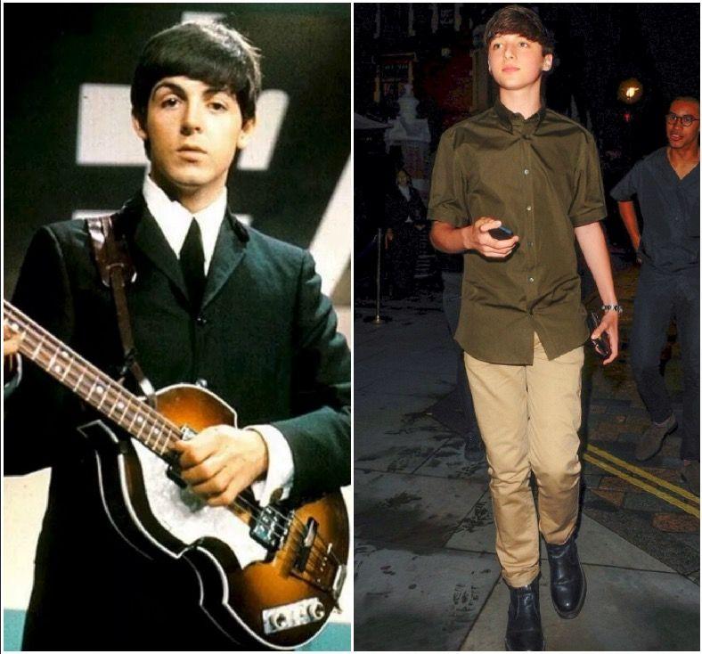 Paul McCartney And His Grandson Arthur Donald