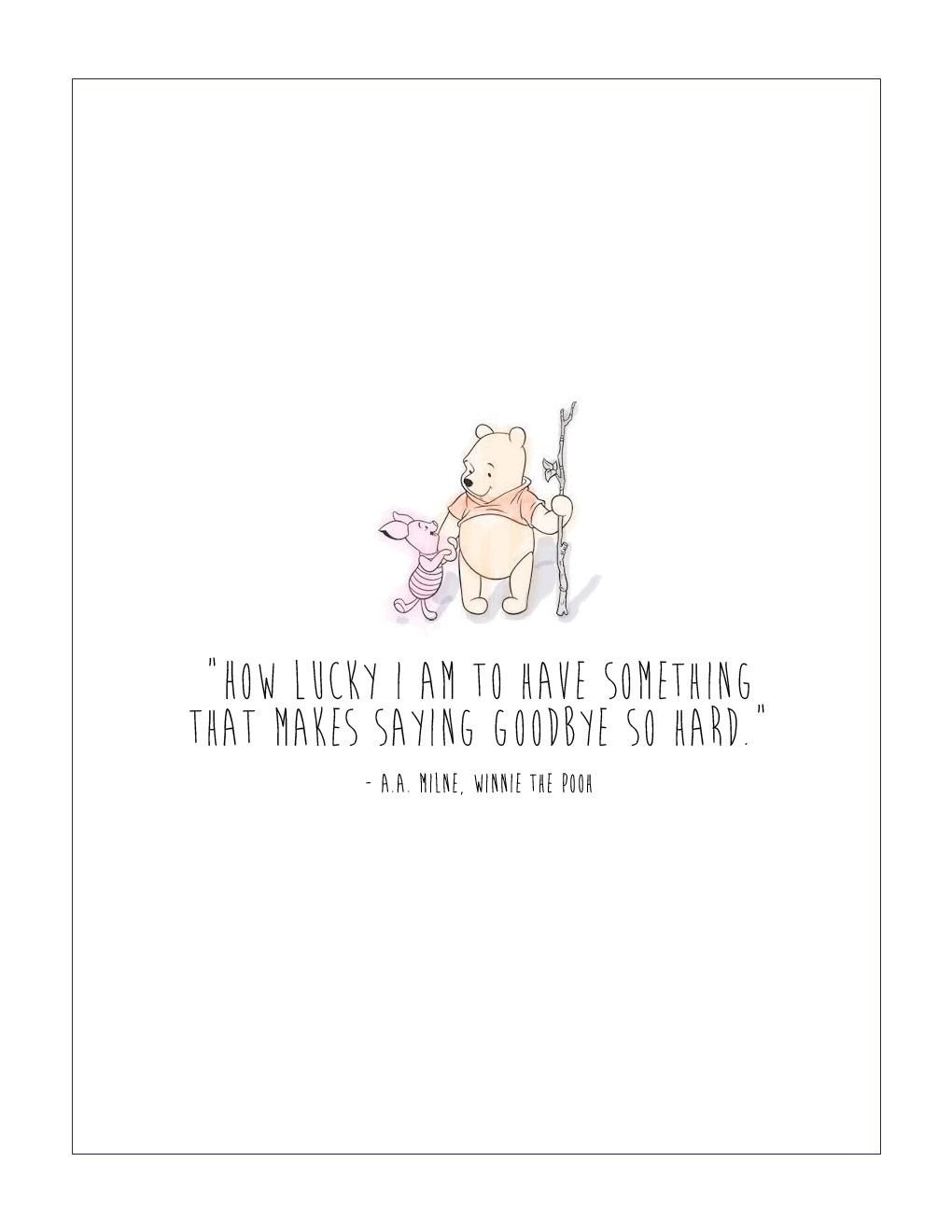 Winnie The Pooh Quotes About Life Free Winnie The Pooh Printable  Life Lessons Qoutes And Wisdom