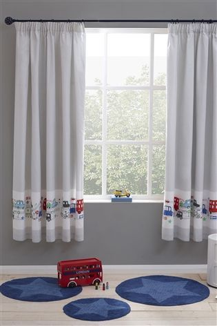 257983479dd4 Buy Beep Beep Cars Print Blackout Pencil Pleat Curtains from the Next UK  online shop