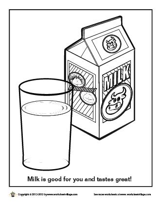 Milk Coloring Page Coloring Pages Color Milk
