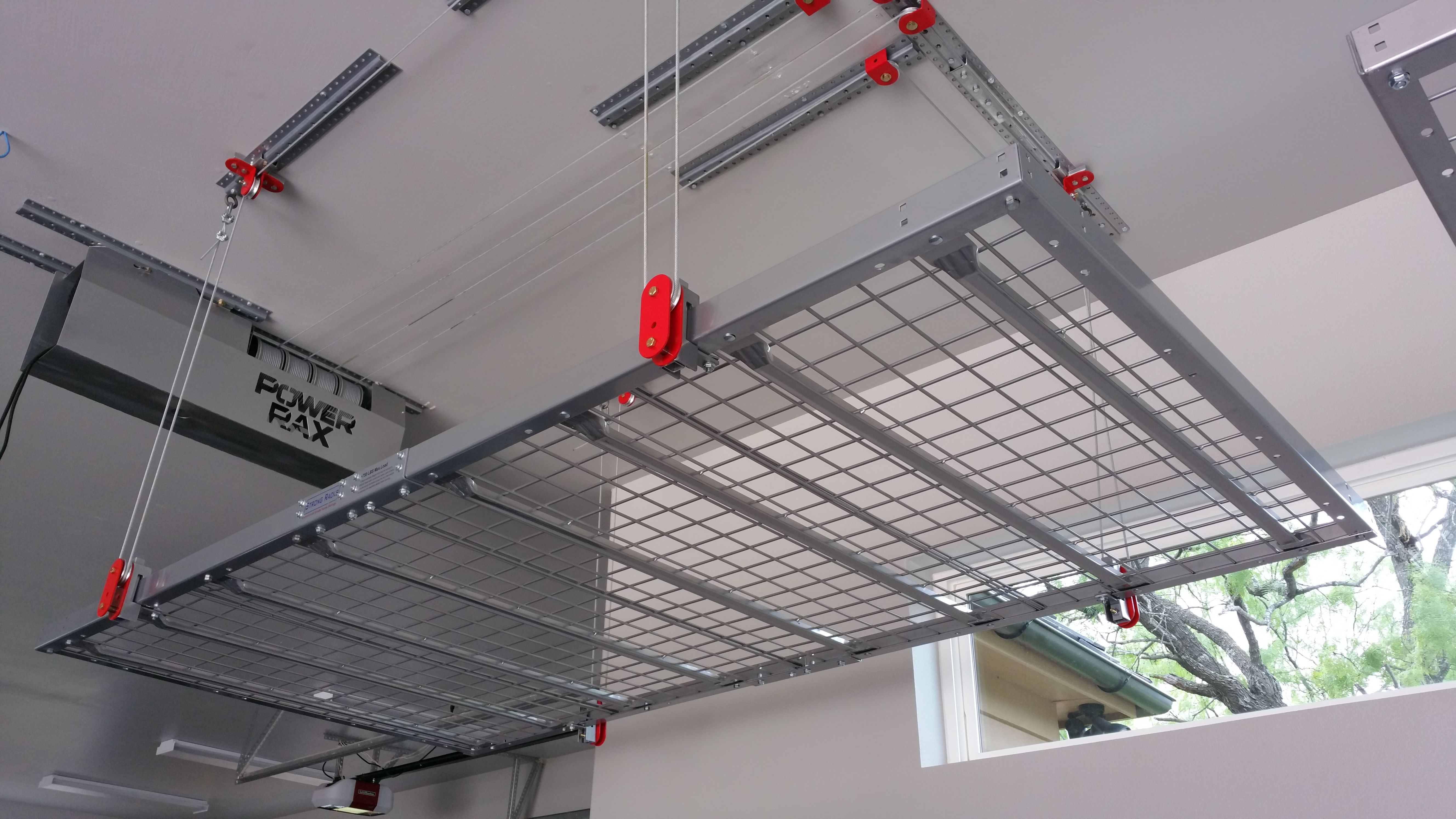 Close Up View Of Our 4 X 8 500 Lb Capacity Motorized Storage Platform Garage Ceiling Storage Garage Storage Ceiling Storage