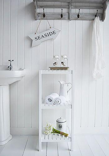 Brighton White Shelf Unit For Bathroom Towels White Bathroom Cabinets White Bathroom Furniture White Bathroom