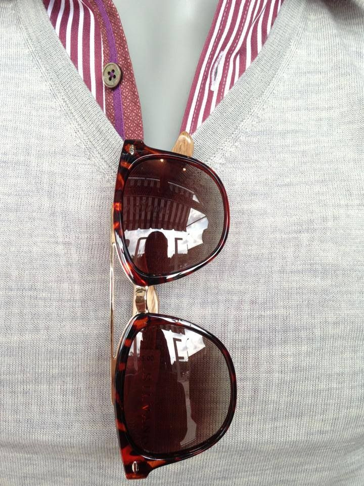 Ted Baker shirt and sweater with Silvano sunglasses. Available @Mandy Bhear code