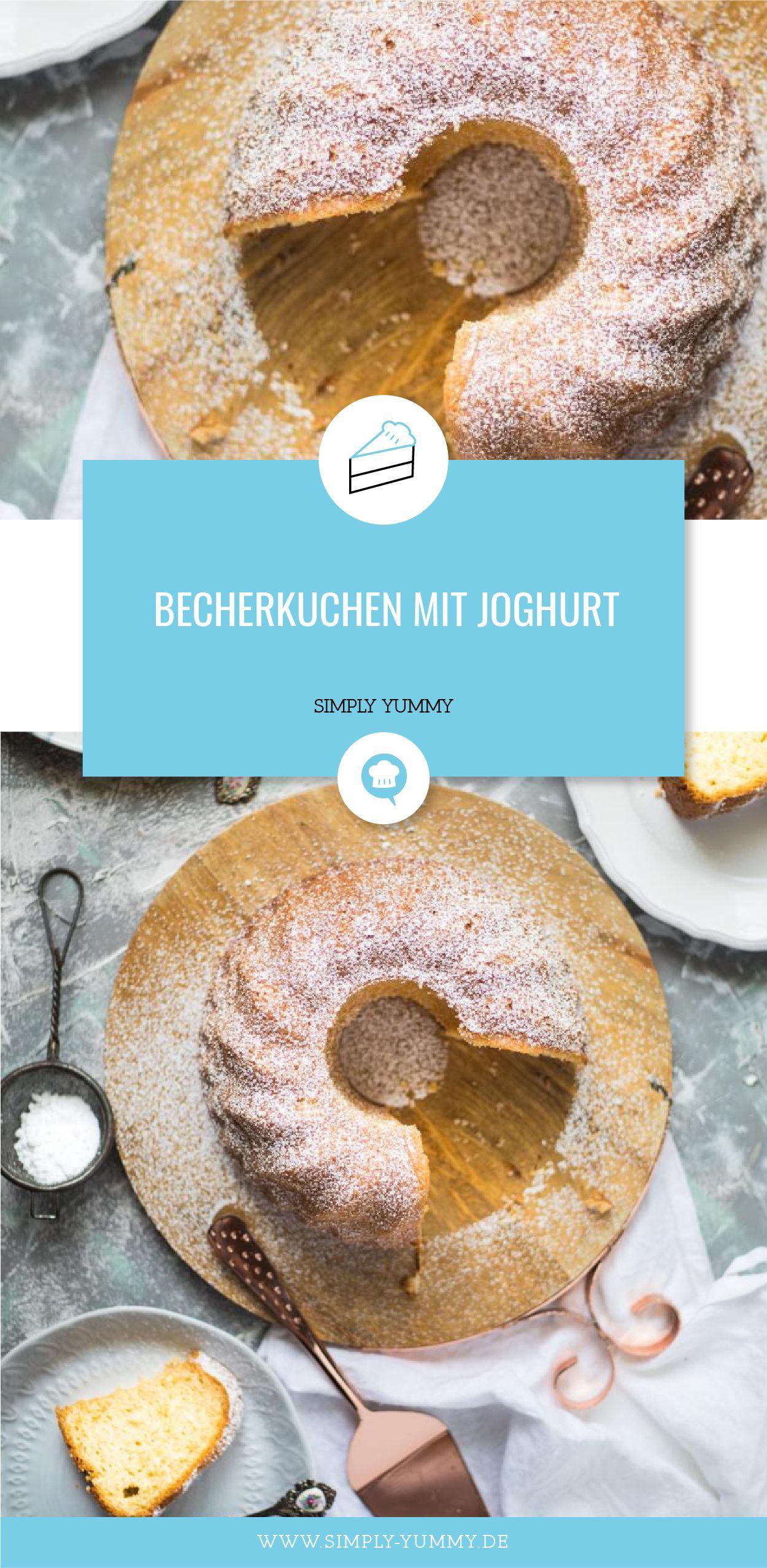 Becherkuchen mit Joghurt / extra saftig #becherkuchen #joghurt #kuchen #rezept #rezepte #backen #lecker #saftig #gugelhupf #einfach #schnell #anfängertauglich #recipeformarshmallows