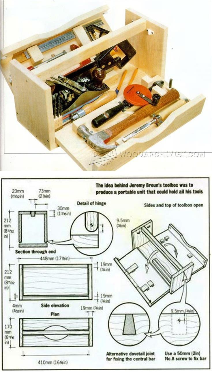 diy wood tool box workshop solutions projects tips and tricks woodarchivist com [ 735 x 1285 Pixel ]