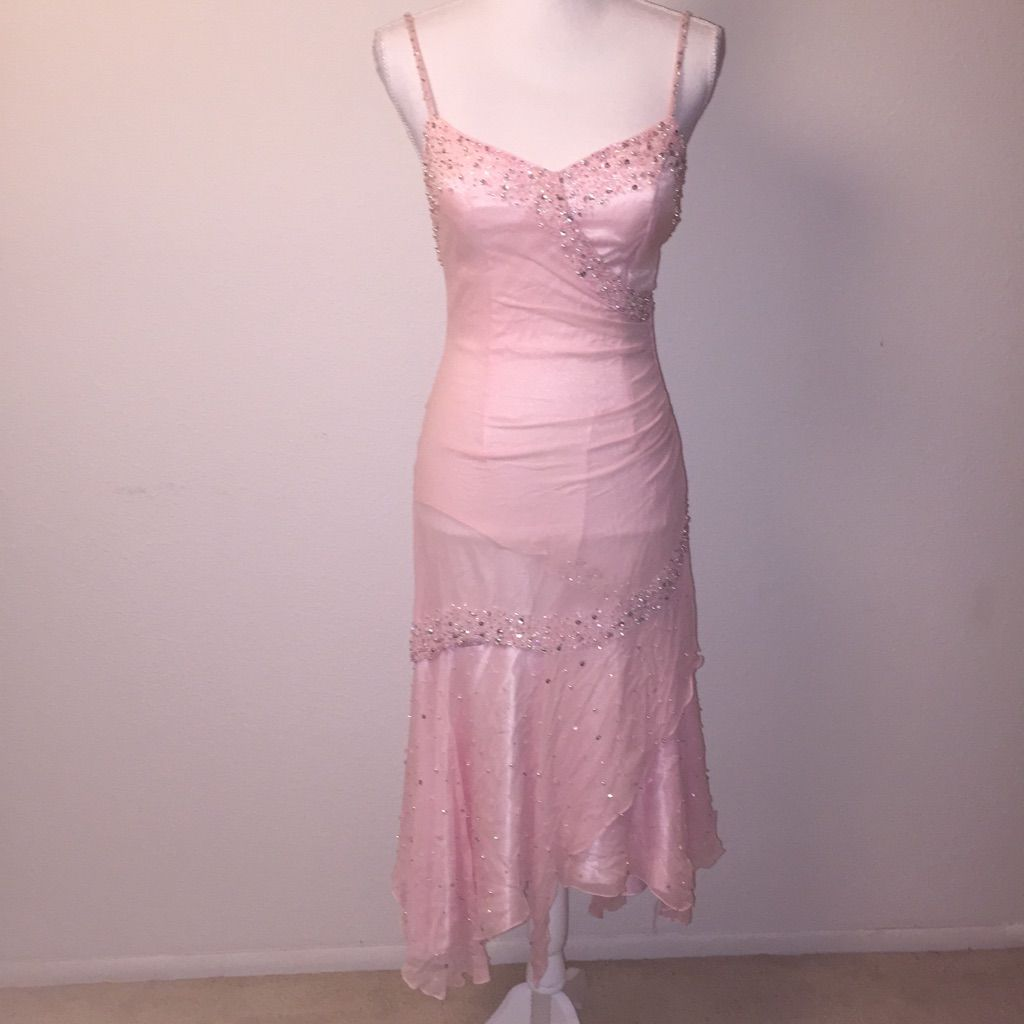 Jessica designs intul beaded pink formal dress pink formal dresses