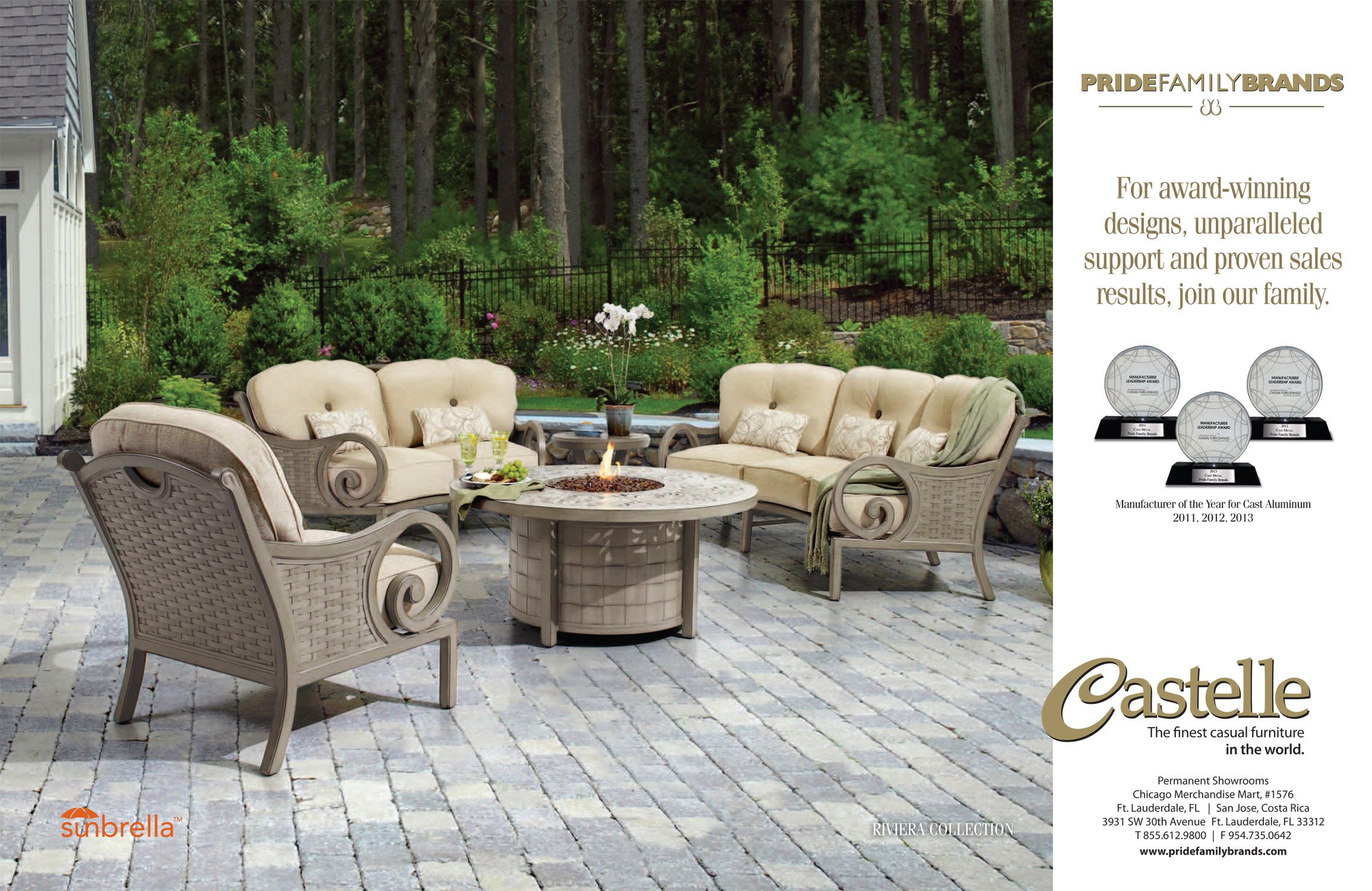 the riviera collection featured in pride family brands advertising wwwpridefamilybrandscom