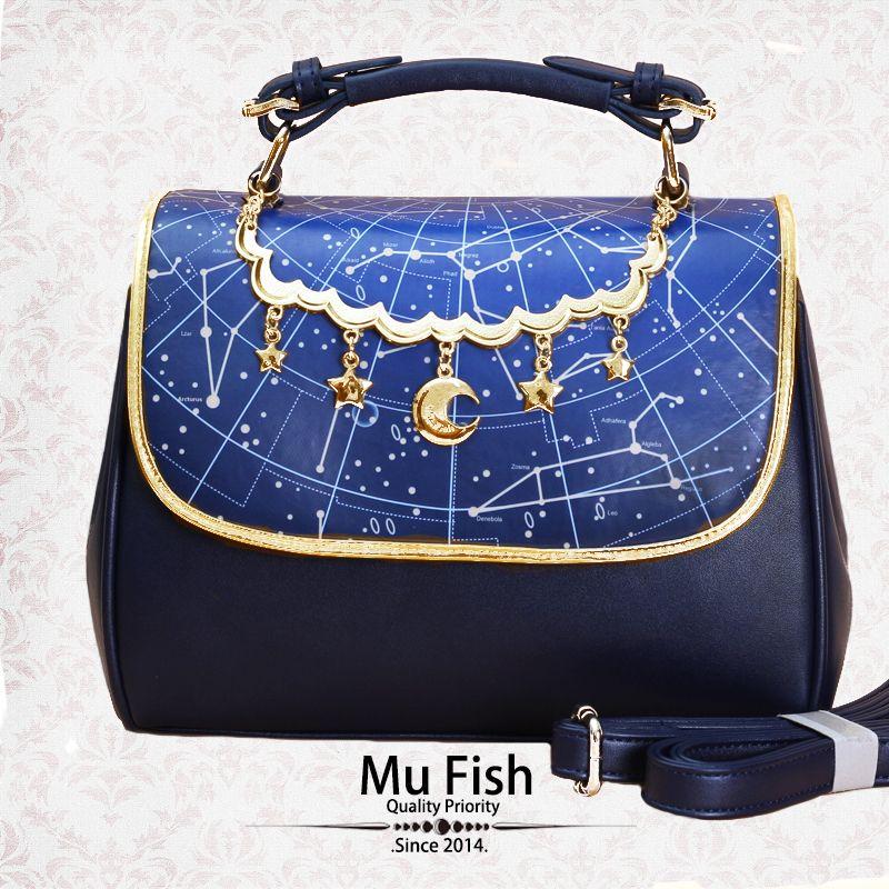 VIDA Statement Bag - Black&Blue Thorn Bag by VIDA NryN8OLgx